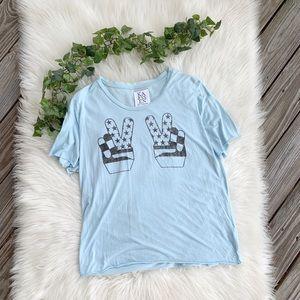 Zoe Karssen Peace Sign Graphic Tee Shirt